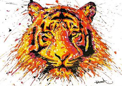 arnaudflow-tiger-100-x-100-cm